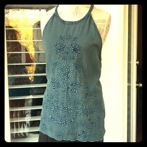 Lucky Brand Tops - Sleeveless top with cut in arms-